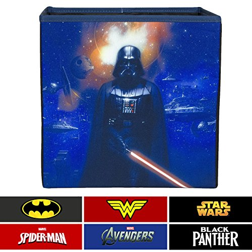 Everything Mary Darth Vader Collapsible Storage Bin Disney - Cube Organizer Closet, Kids Bedroom Box, Playroom Chest - Foldable Home Decor Basket Container Strong Handles Design -