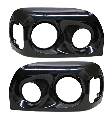 PetaParts PBP 34-013-S Freightliner Century Headlight Bezel (Black 2005 and newer - Driver & Passenger Side)