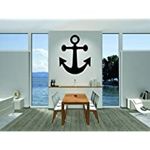 Wall Decal Sale : Boat Ship Water Anchor Size: 16 Inches X 24 Inches - 22 Colors Available