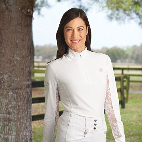 Romfh Ladies Lace Show Shirt X-Small White