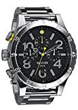 Nixon 48-20 Chrono Black Dial Stainless Steel Quartz Men's Watch A486-000