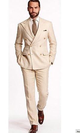a6a96d0d AK Beauty Two Button Slim Fit Men Suit 3 Pieces Double Breasted Business  Suits Wedding Suits