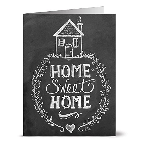 24 Chalkboard Note Cards - Home Sweet Home - Blank Cards - Kraft Envelopes Included