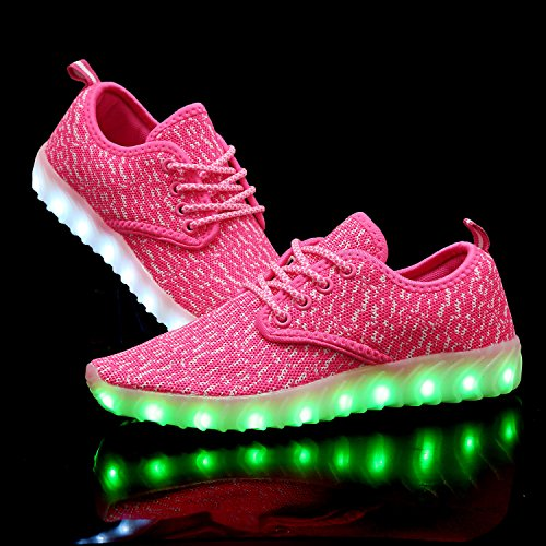 Rainbow Dance Fashion Sneaker Shoes Color Luminous Pink Kids Unisex LED QZMUSE Flashing Lights Shoes pqA4xgg