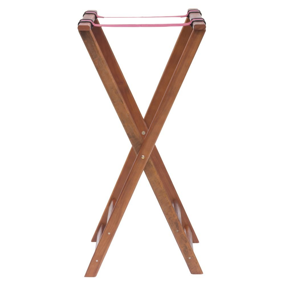 Tray Stand with Solid Legs Dark Walnut Wood - 38'' H