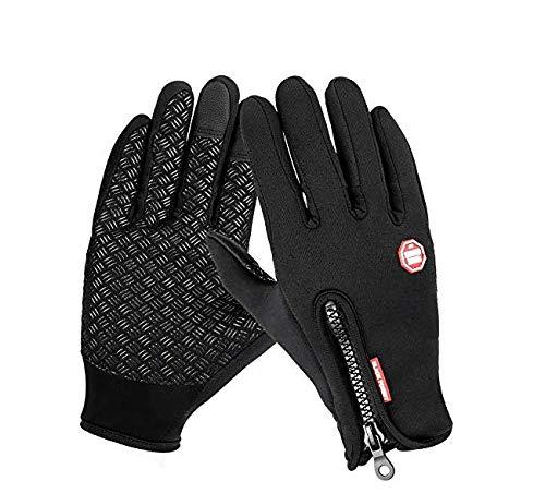 AOFU Winter Gloves,Touch Screen Gloves Black Gel Men&Women for Outdoor Sports
