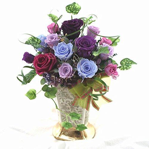 開店開院お祝いの花 プリザーブドフラワー やさしく シックなバラ 達アレンジ B00IG5CV76 kinennbi