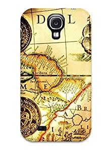 Durable Map Misc Abstract Misc Back Case/cover For Galaxy S4