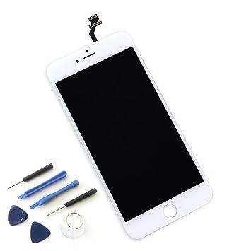 Smartex Pantalla Blanco Compatible con iPhone 6 / Pantalla LCD con Retina táctil + Kit de