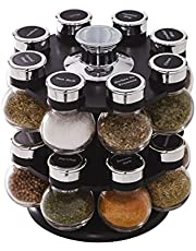 Kamenstein Jar Revolving Spice Rack with Free Spice Refills for 5 Years