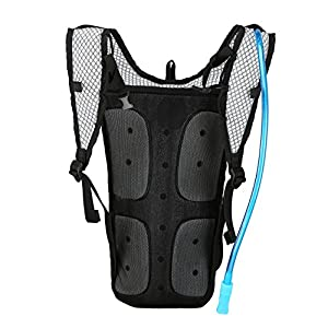 Best Fit For U Roswheel Hydration Pack Backpack with 2L Liter Bladder Water Reservior for Running Hiking Biking Women Men Kids Green