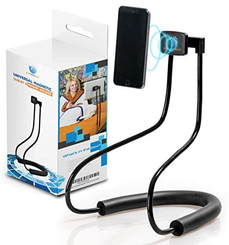 proTechART Universal Tablet & Cell Phone Holder - Improved 3600 Gauss Magnetic Mount Adjustable 360 Rotating - Lazy Neck Bracket Flexible & Portable Gooseneck Mobile Stand for Desk Table Bed Bike Car by proTechART