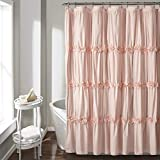 Blush Pink Shower Curtain Lush Decor Darla Ruched Floral Bathroom Shower Curtain, x 72