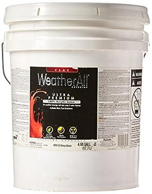 True Value HPXD-5G Premium WeatherAll Deep Base Exterior Flat House Paint, 4.68 Gallon