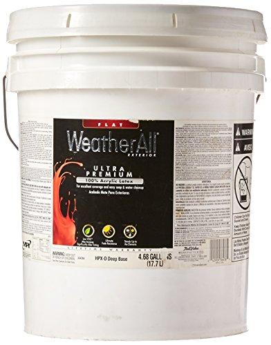 - True Value HPXD-5G Premium WeatherAll Deep Base Exterior Flat House Paint, 4.68 Gallon