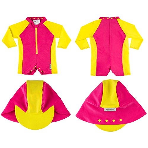 78f9aef04d704 Rashoodz Rash Guard Sunsuit 12-24 Mths Attachable Sun Hat 12-24 Mths Pink -  Buy Online in Oman. | Misc. Products in Oman - See Prices, Reviews and Free  ...