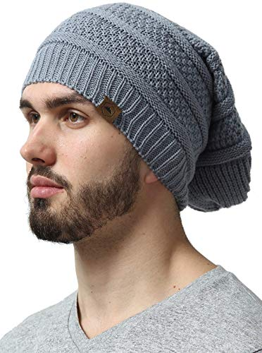 Slouchy Cable Knit Beanie - Chunky, Oversized Slouch