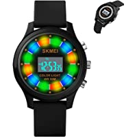eYotto Kids Digital Sport Watch for Boys Girls with Flashing LED Rotating Lights, Waterproof Child Wristwatch Alarm…