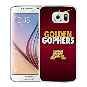 NCAA Big Ten Conference Minnesota Golden Gophers 2 White Abstract Personalized Picture Samsung Galaxy S6 G9200 Case