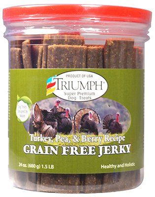 Sunshine Mills 00944 Dog Treats, Grain -Free, Tur a, Pea &B Berry Jerky, 20 -oz. Quantità 6