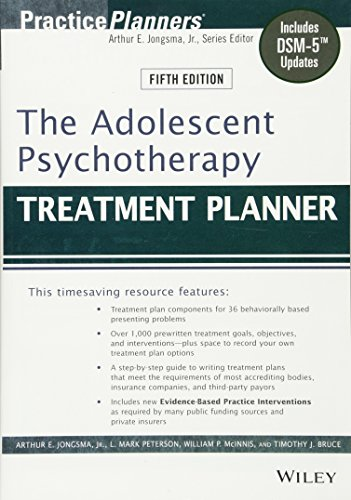 Book Depository The Adolescent Psychotherapy Treatment Planner: Includes DSM-5 Updates by Arthur E. Jongsma Jr., L. Mark Peterson, William P. McInnis, Timothy J. Bruce.pdf