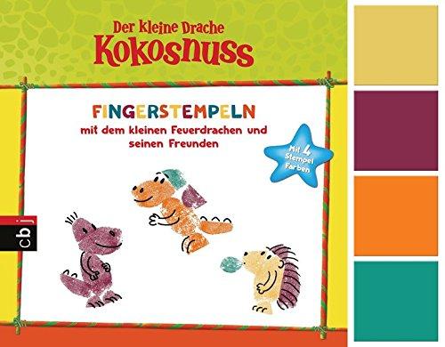 Der kleine Drache Kokosnuss - Fingerstempeln: Set mit Buch und 4 Fingerfarben