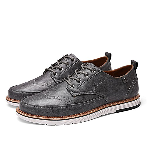 uomo up da Lace Brown Grey Traspirante Scarpe Estate Shoe Casual D Pure XUE leggero Bianco lavoro PU Black Pure Pure formale Business Scarpe Primavera Business qExwCP