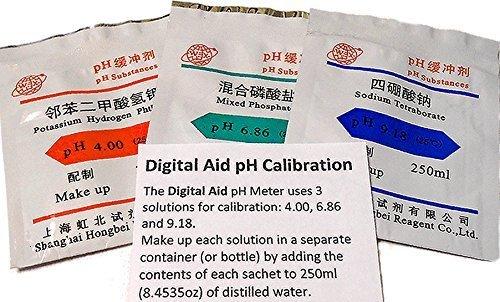 디지털 보조 pH 보정 파우더 (4.00pH, 6.86pH 및 9.18pH)/Digital..