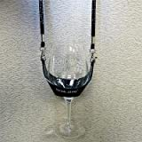 Drink Sling with Black Bling Lanyard with Black Wine Glass Holder