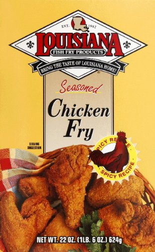 Louisiana Fish Fry, Seasoned Chicken Fry, 22-Ounce Box, 1 pkg.