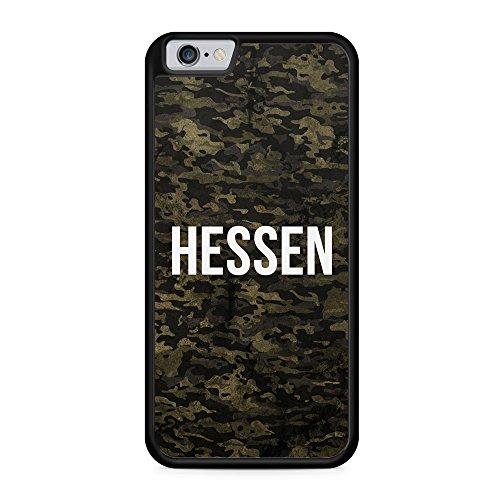 Hessen Camouflage - Hülle für iPhone 6 & 6s SILIKON Handyhülle Case Cover Schutzhülle Hardcase Schale | Coole Bedruckte Design Geile Deutschland Militär Military Städte Hülle