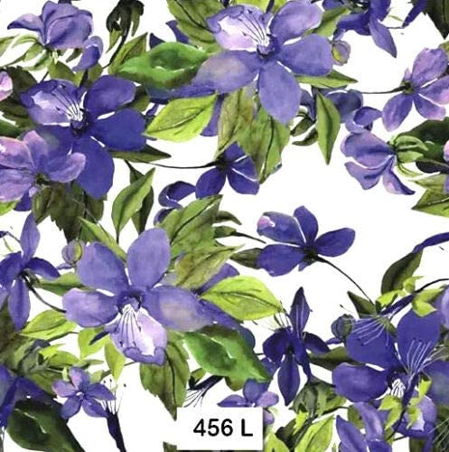 456 Purple Two Individual Paper Luncheon Decoupage Napkins Vine Clematis