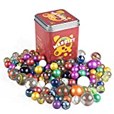 Marble Game With Shooter,in a Tin Box, Marble Set - 80Pcs.