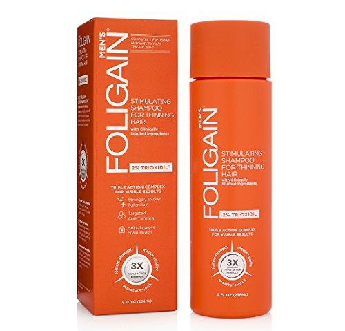 FOLIGAIN Stimulating Shampoo for Thinning Hair For Men with 2% Trioxidil (8oz) 236ml by Foligain