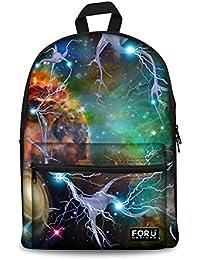 Galaxy Teenager Canvas Bookbag Backpack