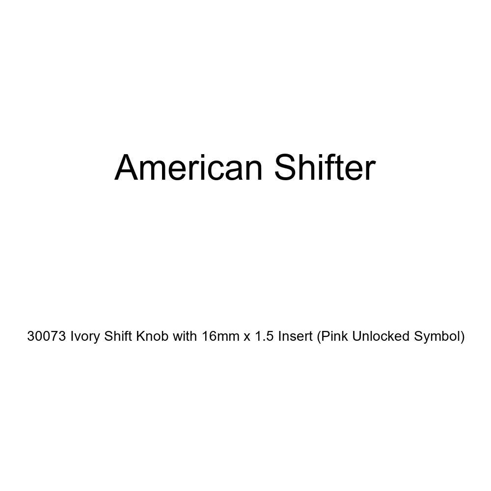 Pink Unlocked Symbol American Shifter 30073 Ivory Shift Knob with 16mm x 1.5 Insert
