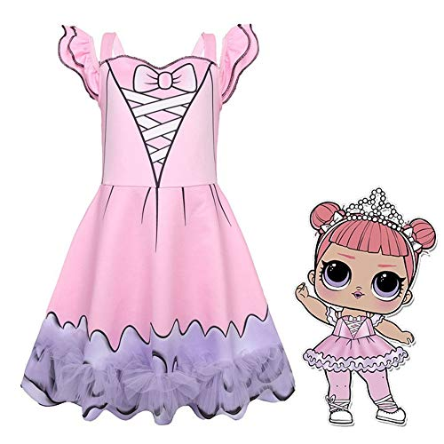 Little Girl's Doll Surprised Dress Princess Halloween Party Cosplay Costume