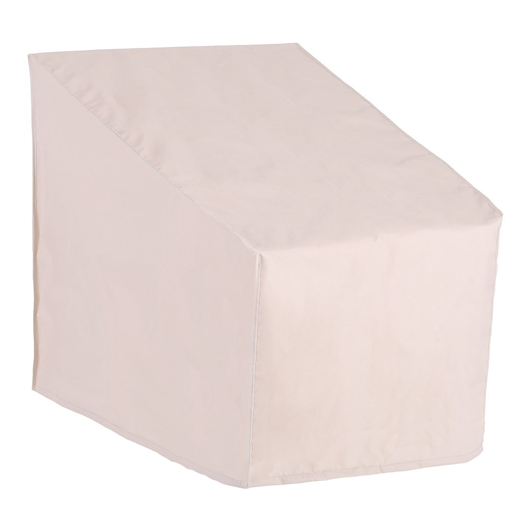 PATIO WATCHER Standard Patio Chair Cover, Durable and Waterproof Out Furniture Chair Cover,Beige