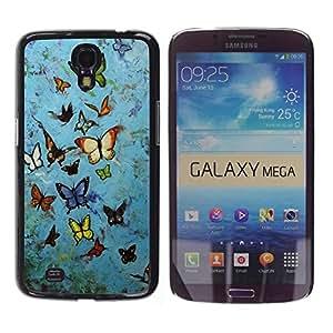 Be Good Phone Accessory // Dura Cáscara cubierta Protectora Caso Carcasa Funda de Protección para Samsung Galaxy Mega 6.3 I9200 SGH-i527 // Blue Rustic Street Art Graffiti