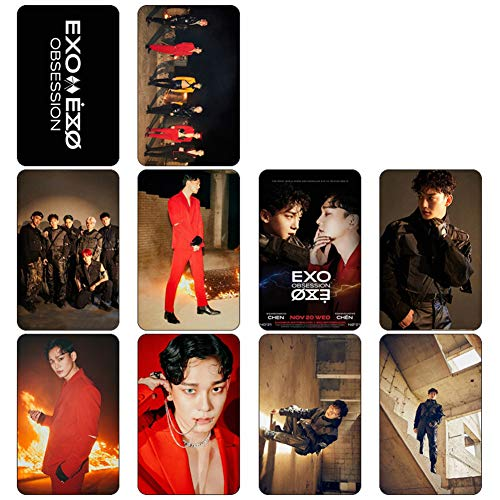 Heyu-Lotus Kpop EXO Album OBSESSION Photo Card PhotoBook Poster LOMO Cards Gift Sticker for Fans(H04)