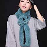 Wuyulunbi@ Autumn and Winter Scarf Knitted Scarf,Black Green
