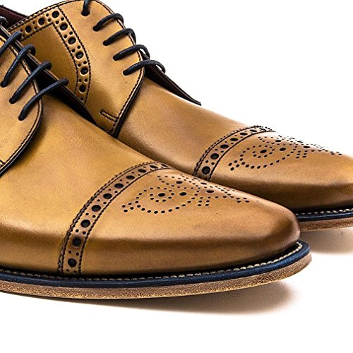 Loake Foley Mens Formales Encaje Hasta Zapatos Tan Burnished