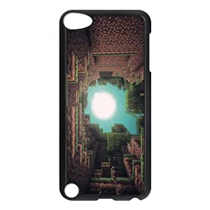 minecraft Pattern Plastic Hard Case FOR Ipod Touch 5 TPUKO-Q904459
