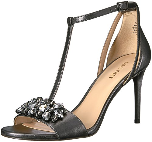 oscuro Pieltre Sandalia Nine Rumsey Patente para Mujer West 0wO0R8xq7