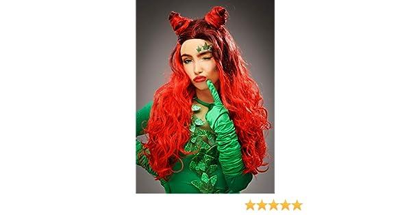 Magic Box Peluca con Forma de Cuerno Rojo Rizado Poison Ivy Style ...