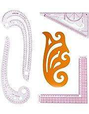 DIY Sewing Ruler Tailor Set French Curve Accessories, 5PCS Stlye Plastic Curve Stick Pattern Design