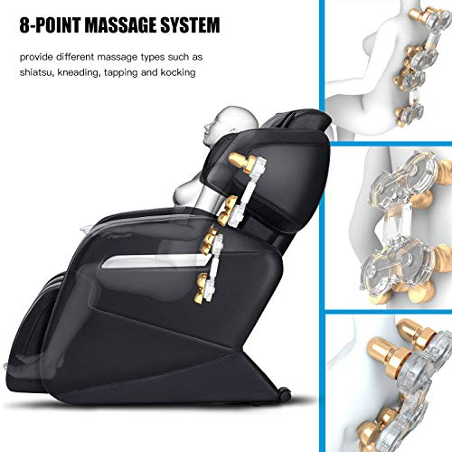 OOTORI Full Body Electric Massage Chair, Zero Gravity Neck, Back, Legs, and Foot Shiatsu Massager...