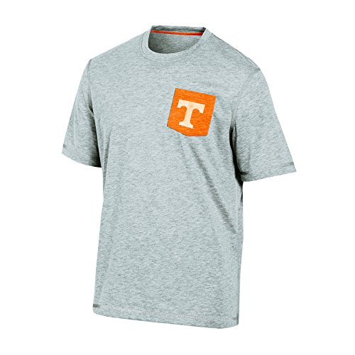 (Champion NCAA Tennessee Volunteers Men's Poly Pocket Tee, Small, Gray Heather)