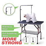 grooming table for dogs - 36'' Foldable Grooming Table Heavy Duty Portable Pet Dog Cat Profession Dog Show Fold