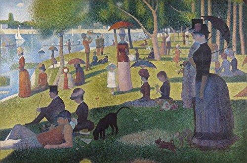 Sunday on the Island of la Grande Jatte 1884 George Seurat Fine Art Rolled Canvas Giclee Print 36x24 Inches (George Seurat A Sunday On La Grande Jatte)